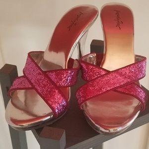 Jacqueline Ferrar glitter sandals